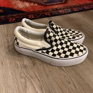 Vans - Checkerboard Slip-On PLATFORMS⬜️◾️◽️▪️